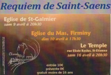 avril 2011, requiem de Saint Saëns