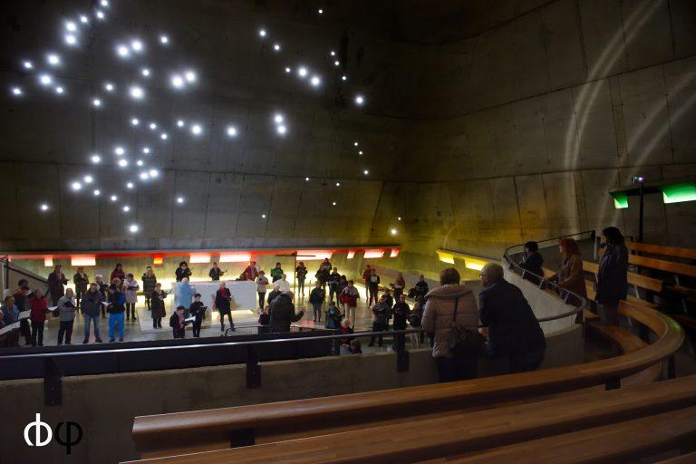 Choeur Ondaine en répétition à l'église Le Corbusier de Firminy, 23/10/16, dans le cadre de FestyVocal